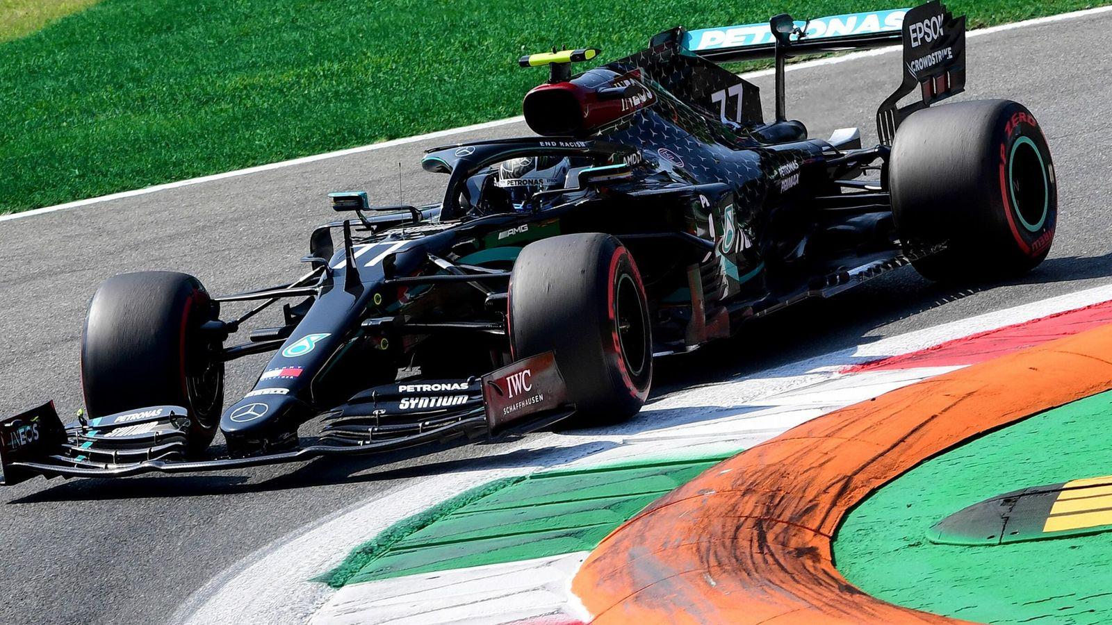 Italy Grand Prix, practice three: Valtteri Bottas fastest ahead of McLaren