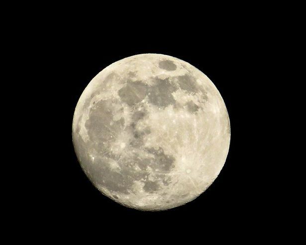 The moon over Colwyn Bay in North Wales on Monday evening before the Snow Supmon of last year on Tuesday, February 19