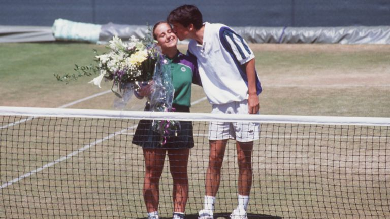 Tim Hinman defaulted during the doubles match in 1995