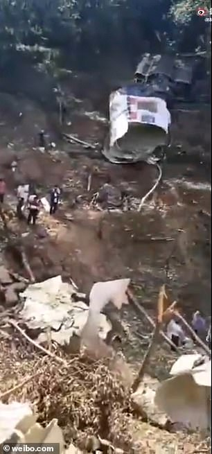The missile exploded to pieces as soon as it hit the neighboring town