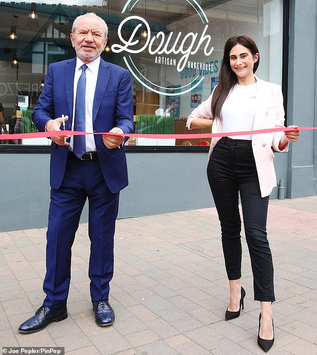 Lord Sugar joined the winning trainee Mrs. Lepore as they opened a new branch of Dough Artisan Bakehouse in Beckenham on Tuesday.