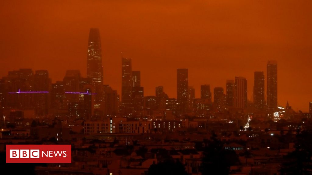 California wildfires: Smoke turns orange in the sky