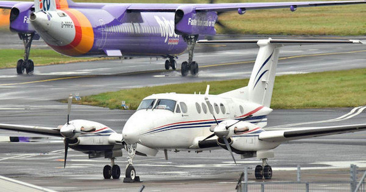 A plane collided with a runway in an accident landing at Exeter Airport