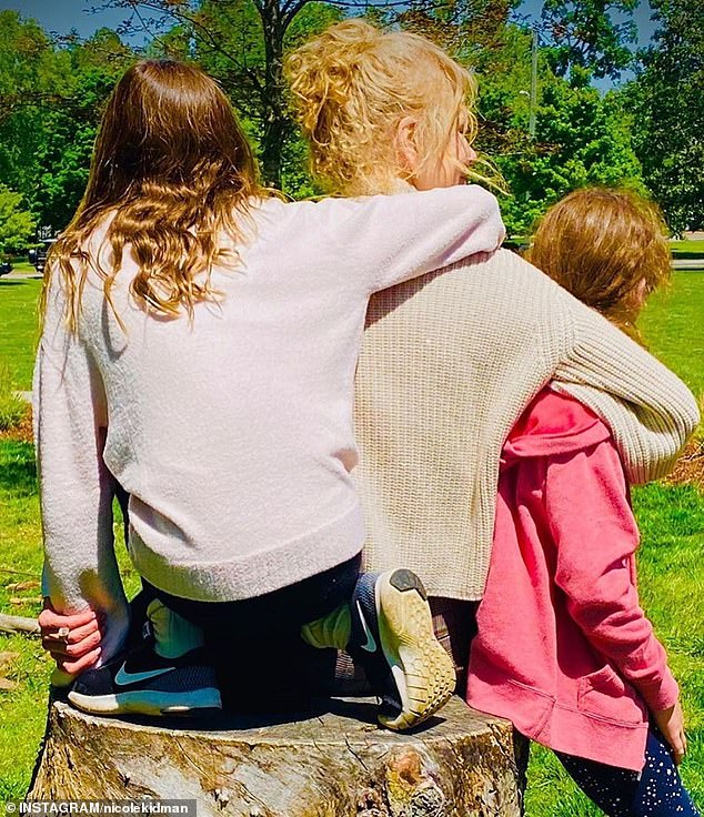 Point parents: the couple are parents to their daughters Sunday Rose, 11, and Faith Margaret, 9