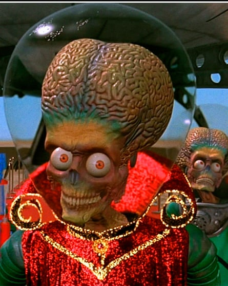 A scene from Mars Attacks, but any life forms on the Red Planet will almost certainly be simple.