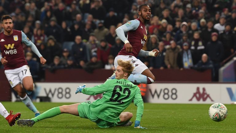 Aston Villa defeated young Liverpool team 5-0 at Villa Park in December, causing their first domestic defeat of the 2019/20 season.