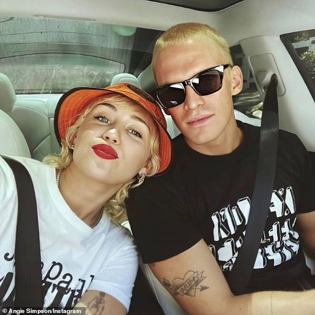 Happier times: The couple began dating in September 2019, shortly after Miley ended her slander with American reality star Caitlin Carter and it came after she split from her ex-husband, Liam Hemsworth.