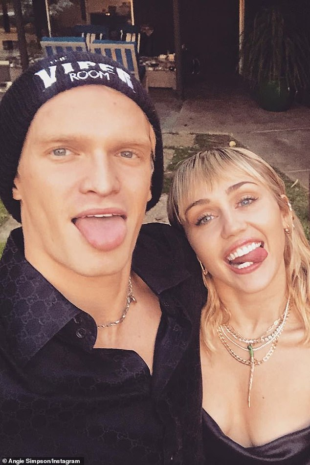 It's Over: Comes one month after Miley Cyrus (pictured) confirms her separation from Cody after less than a year of dating