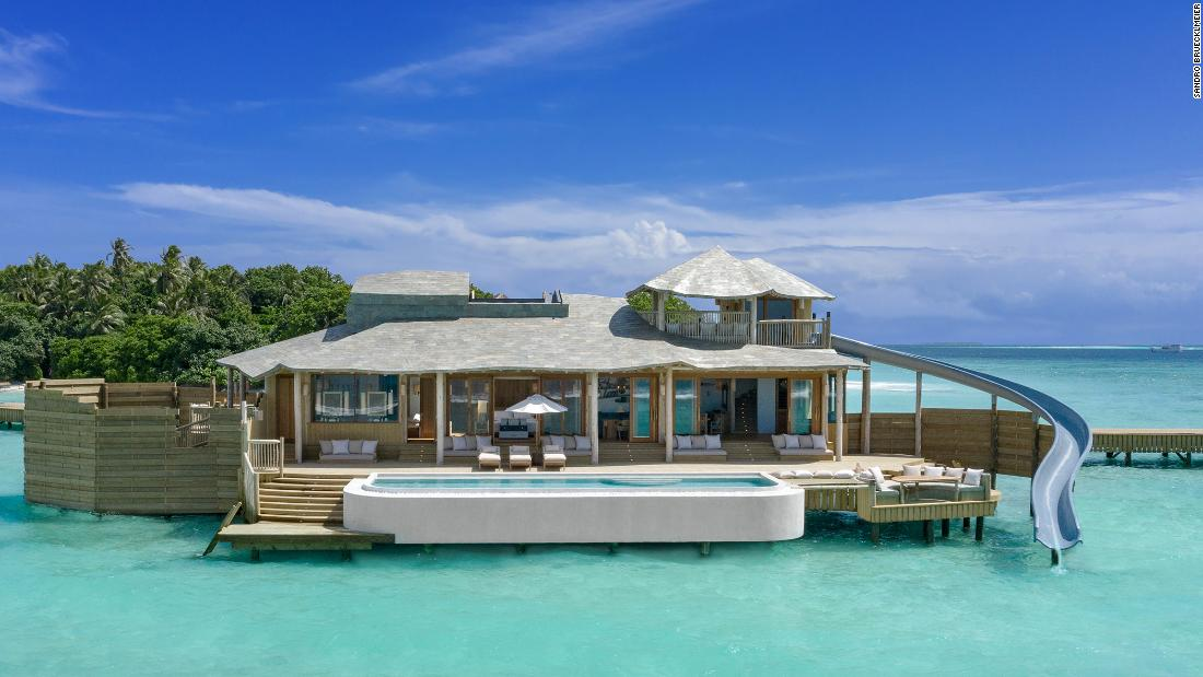 The 'World's Biggest Villas' opens over the water at Soneva Fushi Resort in the Maldives