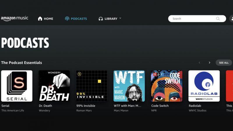 Amazon Music now has podcasts