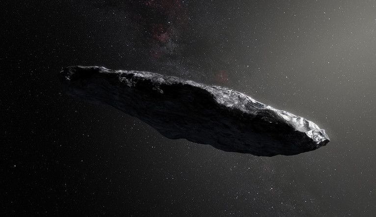 An interstellar visitor Oumuamua could actually be a bunny of cosmic dust