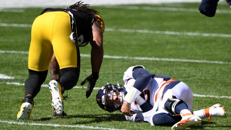 Drew Locke was injured when the Broncos fell on 26-21 to Pittsburgh - Denver Post