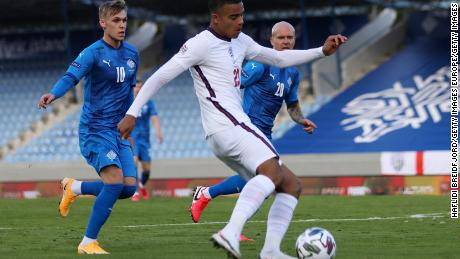 Greenwood made his England debut against Iceland.