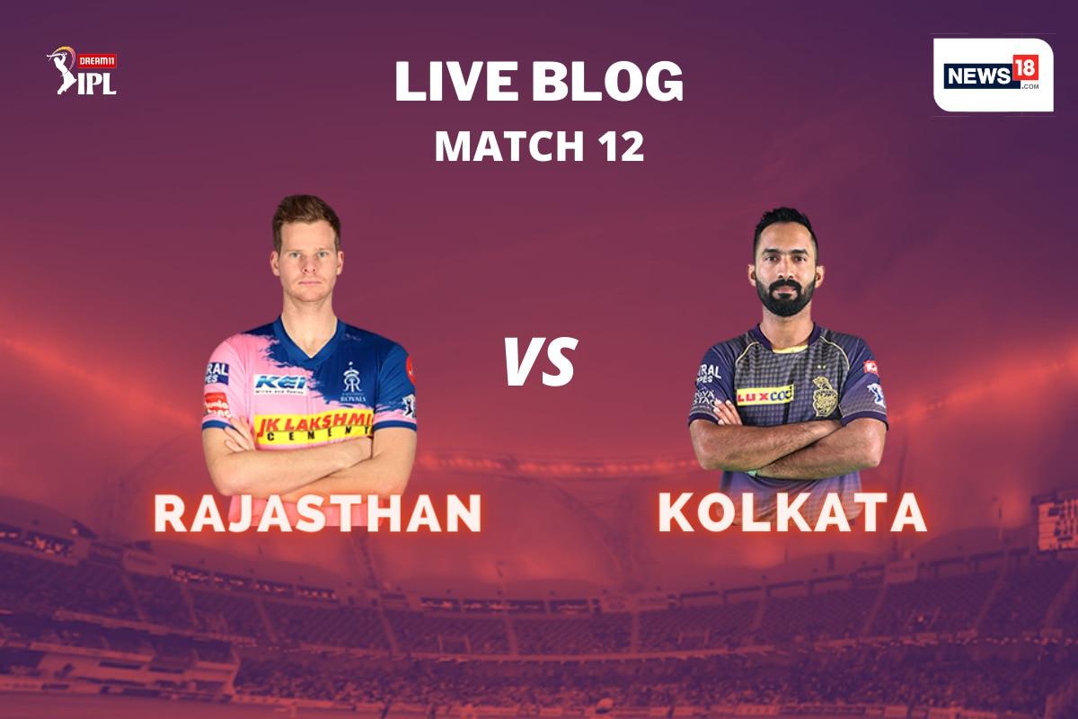 IPL 2020 LIVE Score, RR vs KKR Today