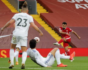 Mohamed Salah paid in his second and third goal for Liverpool.