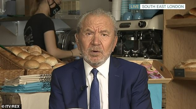 "Lord Alan Sugar criticizes ""satisfied"" Britons who work from home"
