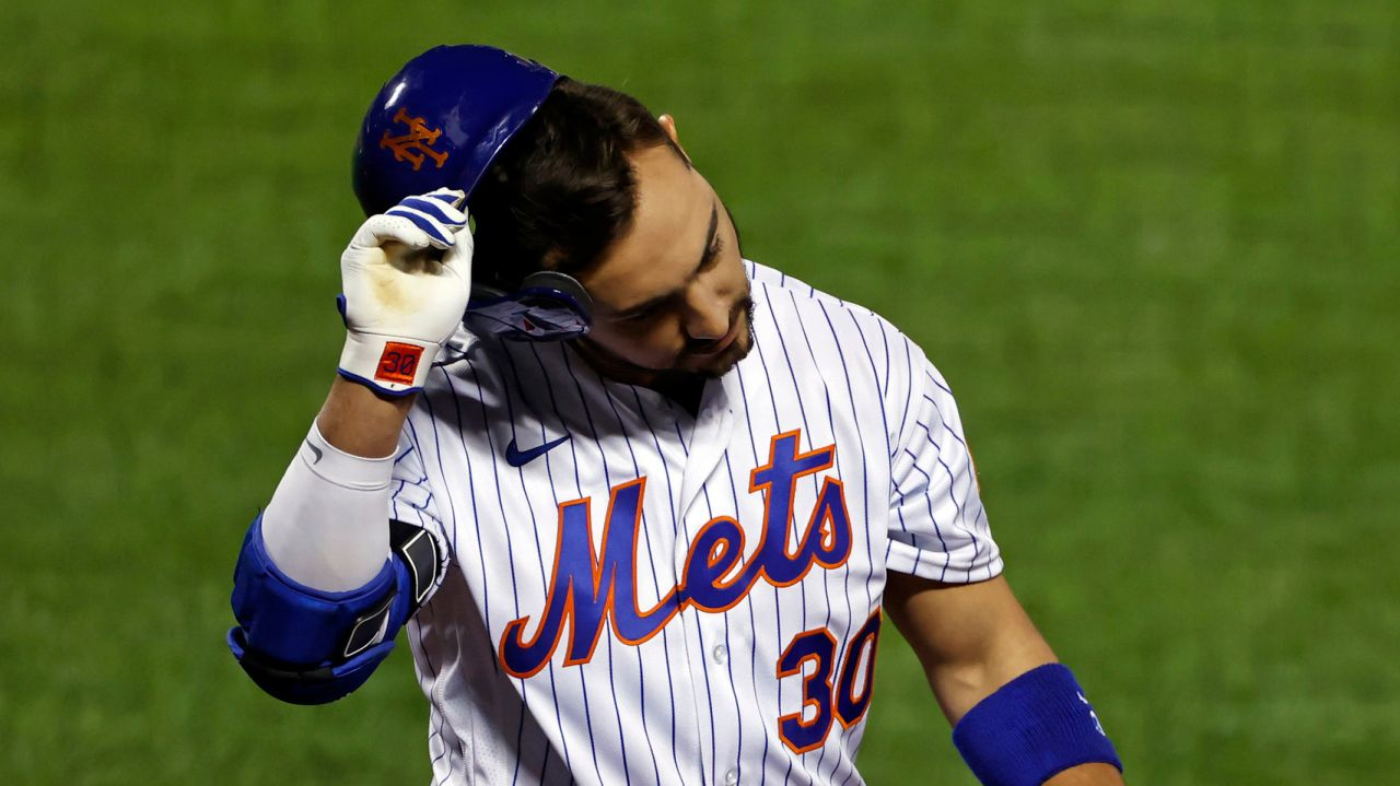 Mets player Michael Conforto's season ended with a hamstring constriction