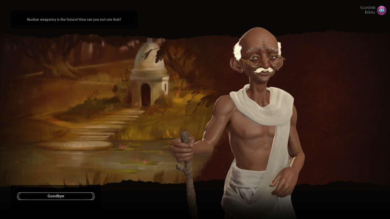 Sid Meier asserts that the nuclear Gandhi is unfortunately just a myth