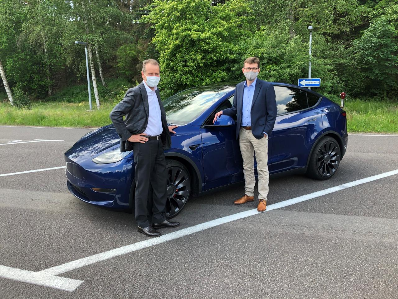 Tesla Model Y makes a solid impression on VW Herbert Diess after a test drive