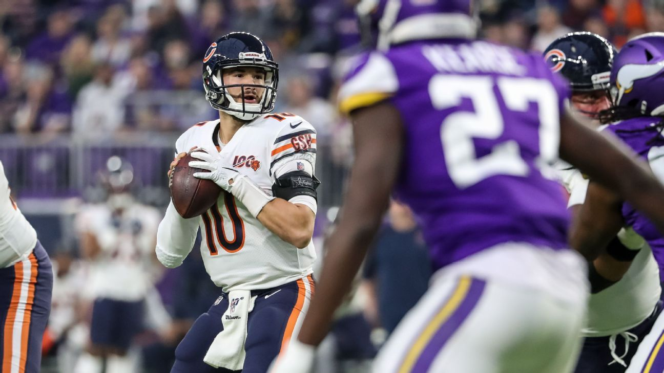 The bears expected to be named Mitchell Tropiski beginning with QB, says the source