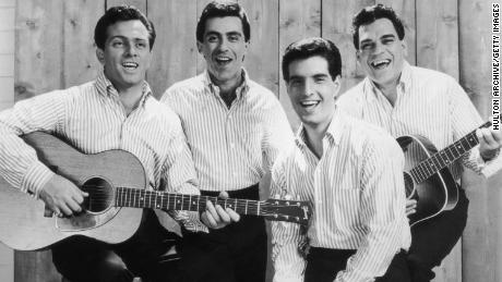 This 1965 Four Seasons promotional photo, from left, shows Tommy DeVito, Frankie Vale, Bob Gaudio, and Nick Massey.