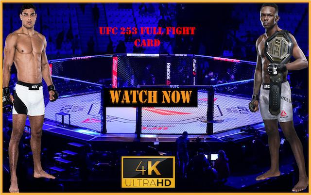 Watch UFC 253 Live Stream Reddit: Adesanya vs. Costa Fight Live Online Free
