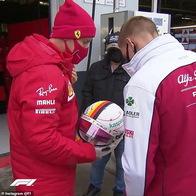 Sebastian Vettel showed a touching Michael Schumacher tribute to his son Mick