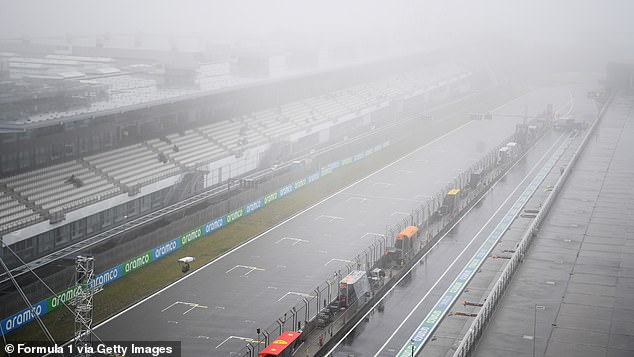 Fog and rain in the Nürburgring led to the cancellation of two training sessions on Friday because it was not safe enough for the medical helicopter to fly.