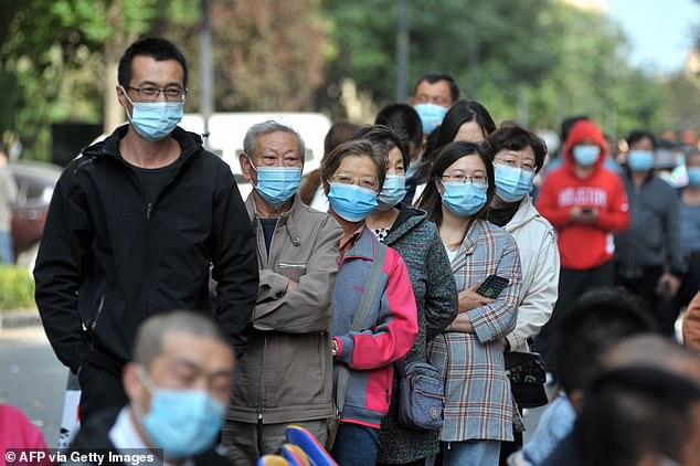 China reports about 12 cases of the virus per day, which means it is extremely unlikely that Xi has contracted it (file photo)