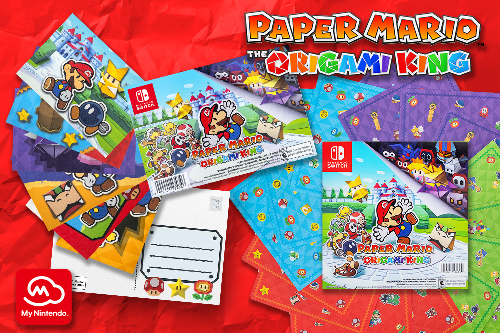 Unleash your creativity with new My Nintendo rewards inspired by Paper Mario: The Origami King
