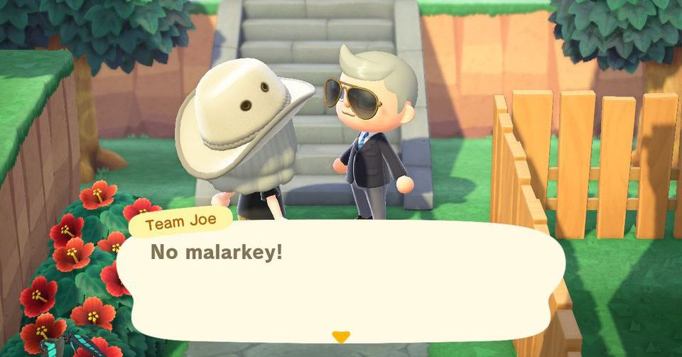 Biden's official residence in Animal Crossing has polling and ice cream stalls and no mallards