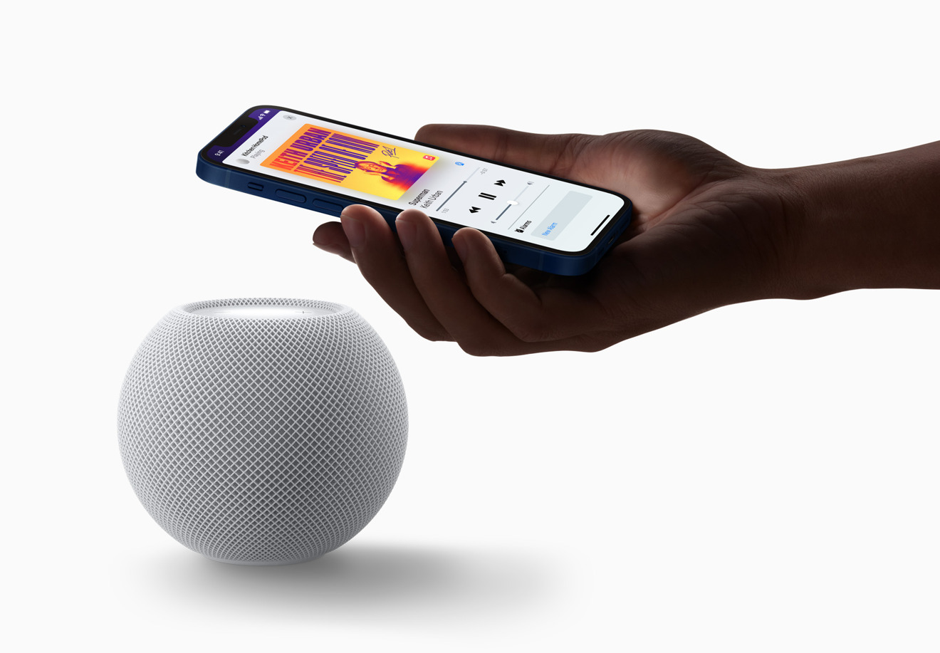 HomePod mini UWB is used for proximity features.