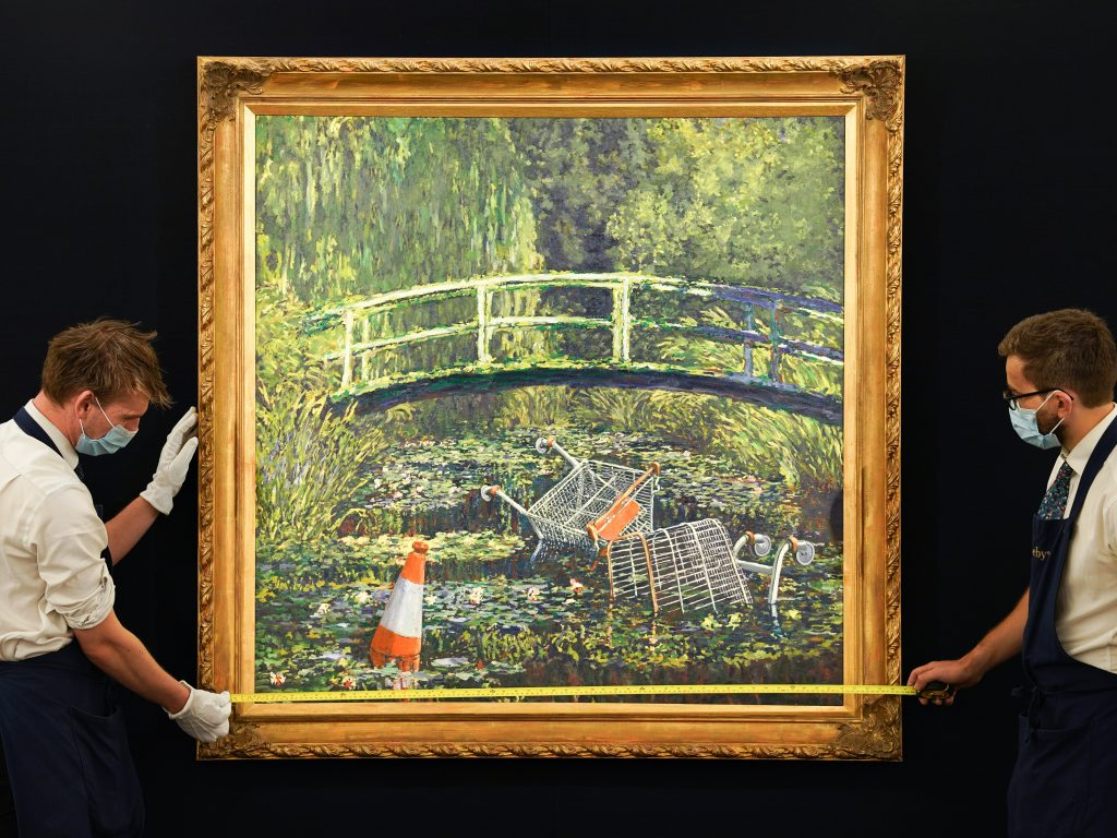 Banksy's `` Show Me the Monet '' became the second most expensive work of art ever