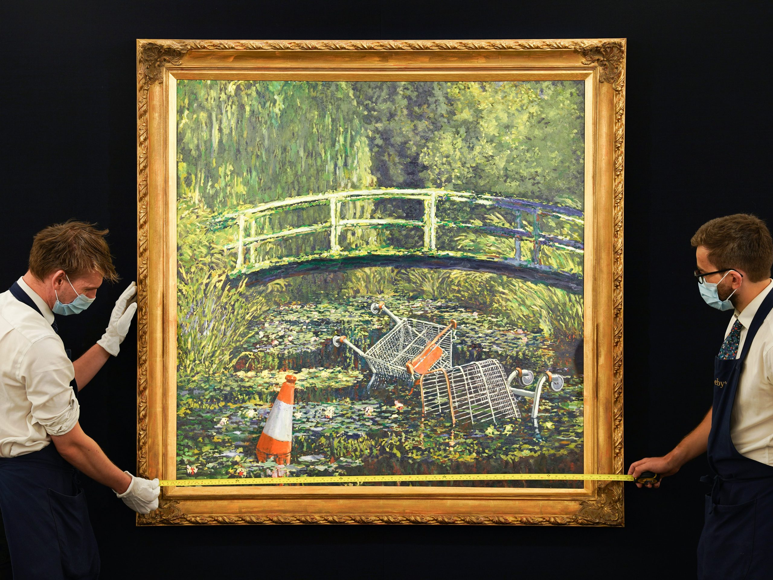 """Banksy's """" Show Me the Monet """" became the second most expensive work of art ever"""