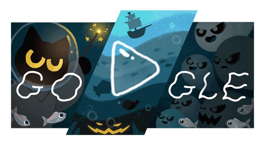 Immerse yourself in Halloween with Google Doodles today