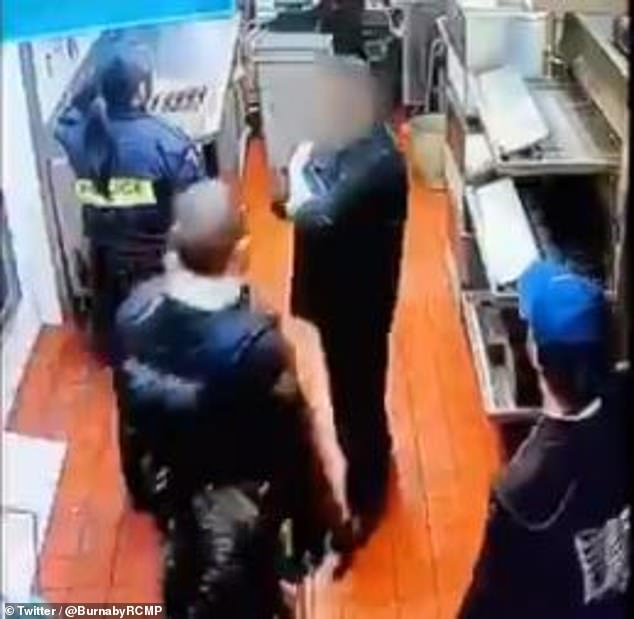 In March, a restaurant manager in Burnaby, British Columbia called the police after hearing strange noises from the ceiling tiles.
