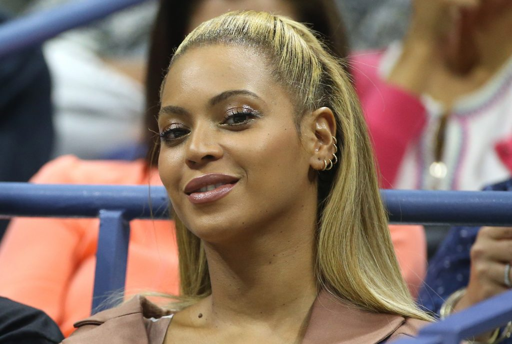 Beyoncé at a sporting event
