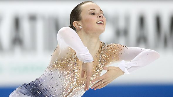 Maria Bell is head of the Skate America short show, looking forward to the biggest win of her career
