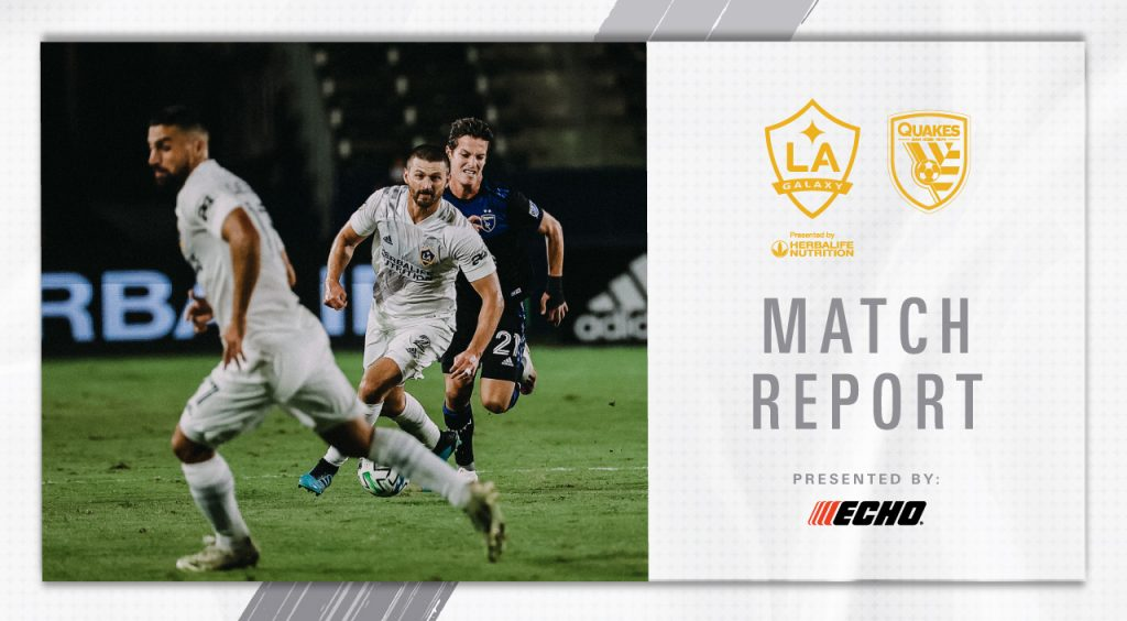 Match Report Submitted by ECHO Outdoor Power: LA Galaxy drops San Jose Earthquakes