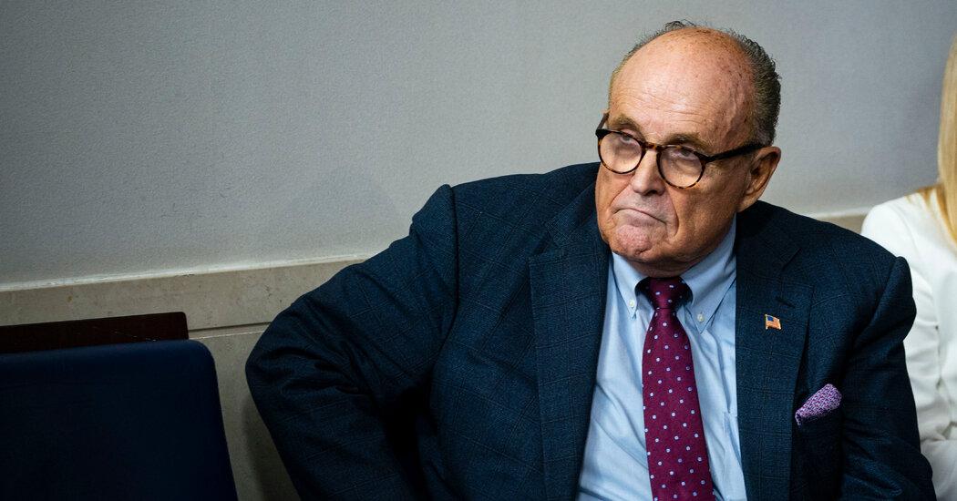 "Rudy Giuliani denies wrongdoing in the new ""Porat"" movie"