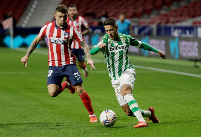 Soccer: Atletico beat Betis after Simeone's tactical substitution