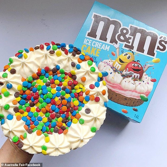 Woolworths is secretly launching this delicious little M & Ms ice cream cake in stores