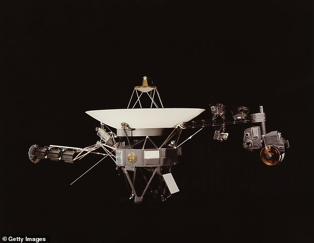 The DSS43 has been offline since March as NASA completed a series of hardware upgrades, but tested the new components by sending commands to Voyager 2 (pictured)
