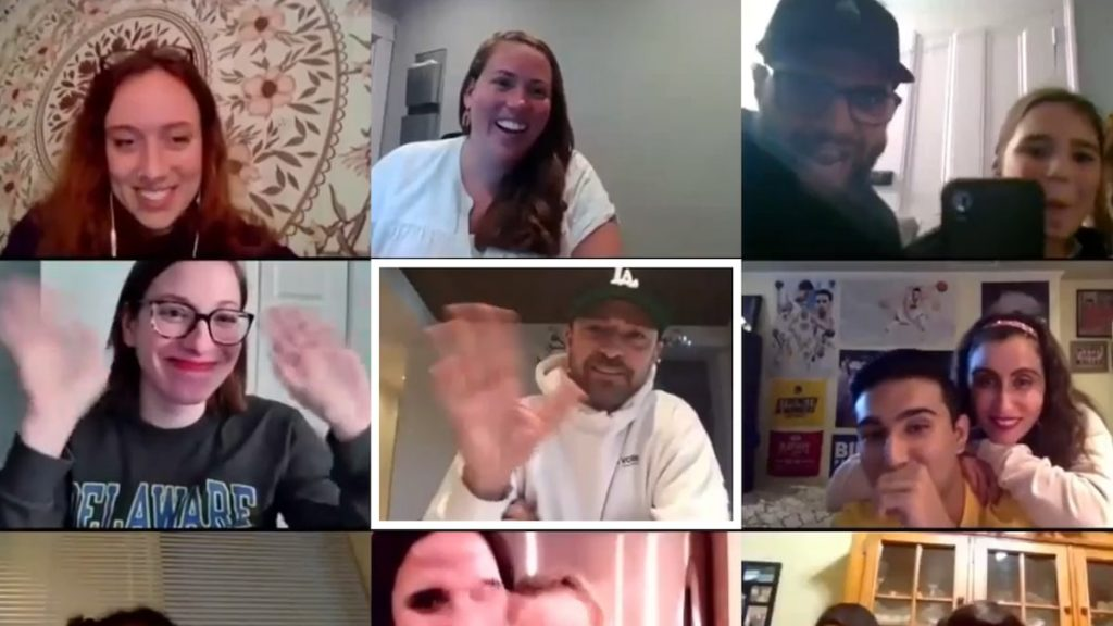 Justin Timberlake surprises Pennsylvania Phone Bank volunteers with a Zoom call
