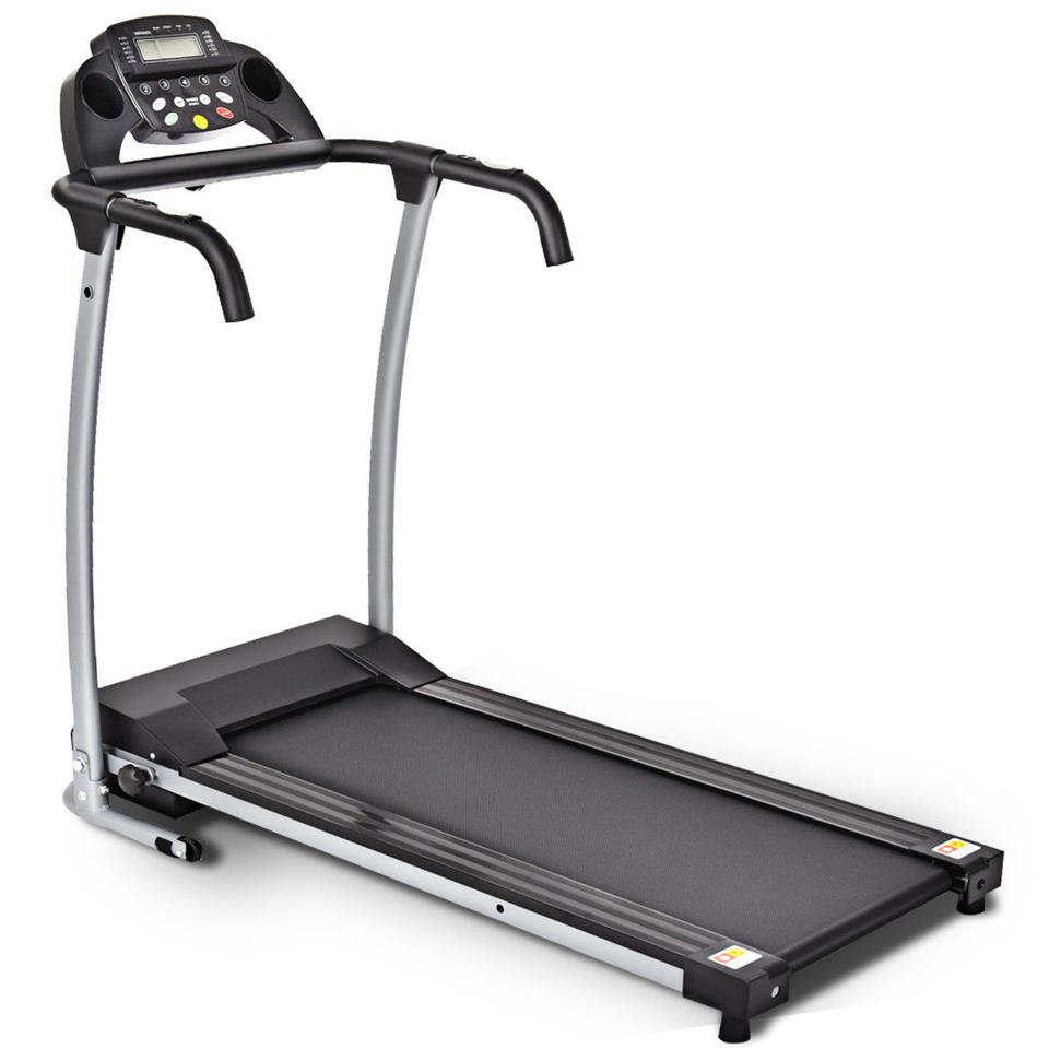 Coastway 800W Folding Electric Treadmill Portable Powered Running Fitness Machine w / Support