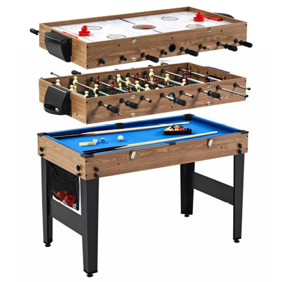 Combo game table, pool, hockey, foosball, accessories included