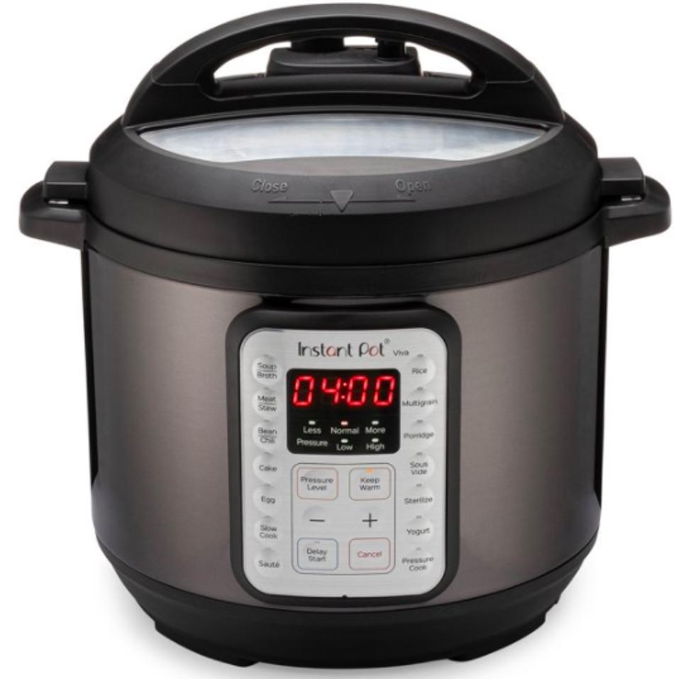 VIVA Black Stainless 6-Quart 9-in-1 Multipurpose Programmable Instant Pressure Cooker