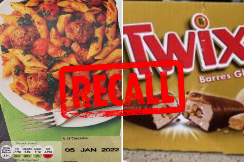 Lidl, Iceland and Waitrose issue food recall warnings including an allergy risk alert