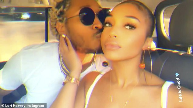 Moving forward: recently split up with rapper Future and it is rumored that she saw Akon's brother Abu Thiam.