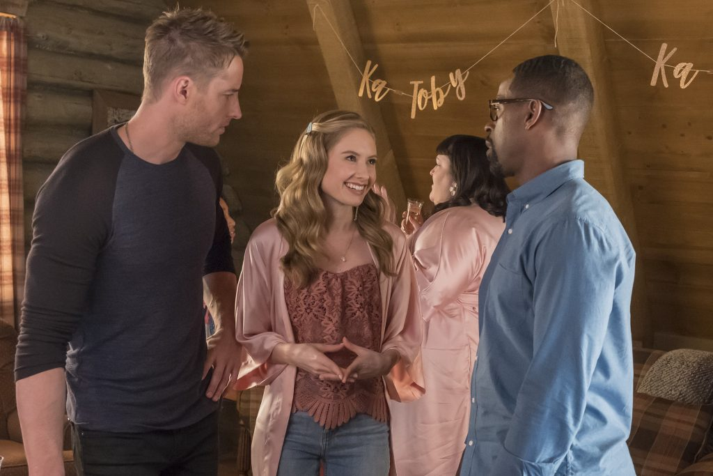 'This Is Us' Justin Hartley as Kevin, Caitlin Thompson as Madison, Stirling K. Brown as Randall